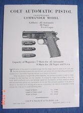 Colt Vintage LW Commander Model 45,38 Super & 9MM Manual
