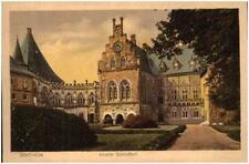 BENTHEIM alte AK um 1920 Partie am Schloss Schloßhof schöne color Postkarte