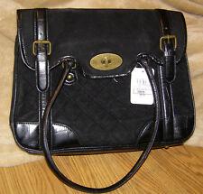 Black Purse Jeffrey Banks Quilted Satchel Designer Handbag Accessory Style Large