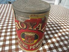 VINTAGE ROYAL BAKING POWDER CAN UNOPENED NEW ANTIQUE KITCHEN DECO 1930