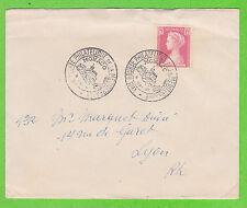 Sur Env. - MONACO - 1 timbre - Cachet 8e Bourse Philatélique de Méditerranée1957
