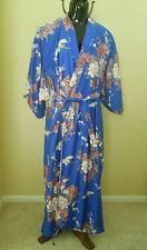 Adult Women's Asian Kimono Halloween Costume Japanese One Size Blue
