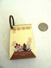 Vintage Warner Bros Daffy Duck Key Ring Post it notes notepad