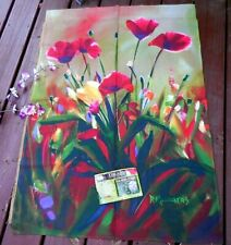 Toland Poppy Poppies Floral Garden Flag ~ Large ~ 28X40 ~ New ~ Fast Shipping