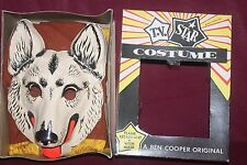 Vintage 1950s Rin Tin Tin Haloween Costume Ben Cooper Mint In Bx German Shepherd