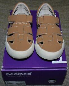 Pediped TODDLER Boys Tan Mark Sandal Shoes - Size 8.5 - EEUC