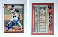 Anthony Telford Signed 1991 Topps #653 Card Baltimore Orioles Auto Autograph