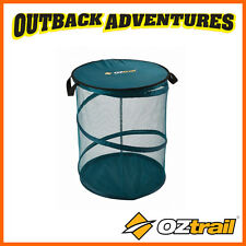 OZtrail COLLAPSIBLE STORAGE BIN GREEN WITH ZIPPER CLOSURE