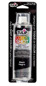 Black Permanent Color Clothes T Shirt Spray Paint 3 Oz Fabric Aerosol Paint NEW
