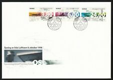Norway 1998 Fdc Inauguration Of Oslo Airport - Aviation Theme