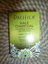 Pacifica~Kale Charcoal~Foaming Facial Detox Bar~Blemish & Oily Skin 3.25 Oz Nib
