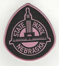 Nebraska State Patrol Pink Cancer Awareness Patch