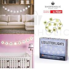 280cm 2.8m Led Letter String Light Bunting with 60 Re-Usable Letters & Symbols