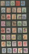 HONG KONG EVII TO GVI FINE USED SELECTION OF 40 (1 IS UNUSED) SEE SCAN