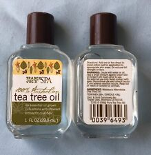 2 bottles of Trader Joe's SPA 100% Australian Tea Tree Oil - 1 oz x 2