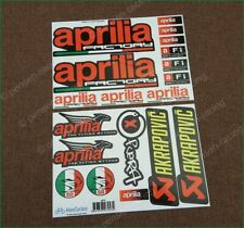 aprilia Factory Racing Motorcycle Laminated Decals Stickers Akrapovic Myhos Kit