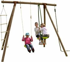 Soulet Koka Single Swing, See-Saw, Climbing Ladder and Rope -From Argos on ebay
