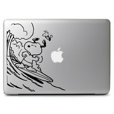 Peanuts Snoopy Surfing Vinyl Decal Sticker for Macbook Air Pro 13 15 Laptop Car