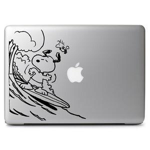 Cartoon Vinyl Decal Snoopy Surfing Sticker for Macbook Laptop Car Window Wall