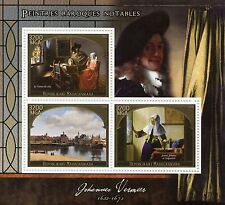 Madagascar 2015 MNH Johannes Vermeer 3v M/S Delft Art Baroque Paintings Stamps