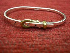 """STERLING SILVER """"BUCKLE"""" BRACELET WITH BRASS """"BUCKLE"""" - TAXCO NUMBERED"""