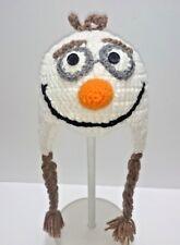 Cute Toddler Kids Girl&Boy Baby crochet Knit beanie cap olaf frozen disney