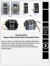 Singer Featherweight 221/222 Sewing Machine Motor Nameplate Decal