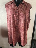 Talbots Sz 18 Matching Blouse And Pants Silk