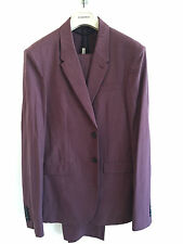 BURBERRY PRORSUM MENS SS15 RUNWAY SUIT WOOL BURGUNDY £1495 RETAIL JACKET PANTS