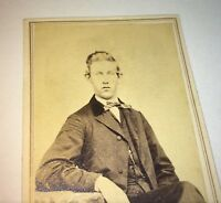 Antique American Civil War Era Fashion Young Gent! Tax Stamp! C.1865 CDV Photo