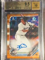 2019 Bowman Chrome Jose Devers Orange Wave /25 Auto- BGS 9.5/10-(1)10 sub