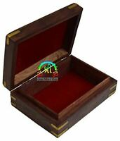 Rosewood Keepsake Box Jewelry Trinket Organizer Handcrafted Elephant and Floral