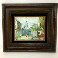 Mid Century Impressionist Framed Oil Painting Canvas Home Decor Retro