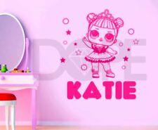 Personalised Girls Lol Doll Wall Art Sticker - Decor