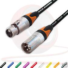 Van Damme Microfono Bilanciato Cavo. Neutrik XLR A Cavi. Orange Colorato Stivali