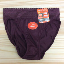 Warner's Women's No Pinching No Problems Lace Hi-Cut Brief Fig Size S/5
