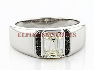 Natural White Topaz & Black Spinel Gemstone with 925 Sterling Silver Ring #2179