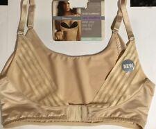 M&S New. Secret Slimming Back Smoothing Bralette Light Control Natural Size14