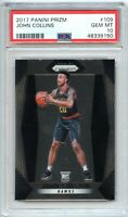 2017-18 Panini Prizm JOHN COLLINS Rookie Card PSA 10 Gem Mint!