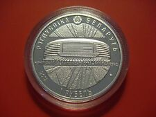 BELARUS 1 ROUBLE 2012 WORLD ICE HOCKEY CHAMPIONSHIPS MINSK ARENA IN CAPSULE