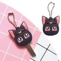Sailor Moon Luna Purple Cat Keychain Pendant Figure Cosplay Cute Keyring Gift