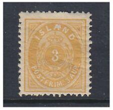 Mint Hinged Single Icelandic Stamps