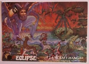 THE ECLIPSE at T2 AIRCRAFT HANGAR - A5 TO A4 RAVE FLYER - 23/8/1991 - CARL COX