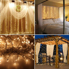 9.8ftx9.8ft 300LED Christmas xmas String Fairy Wedding Curtain Light warm white