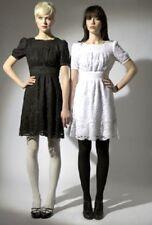 Pearl Lowe Talla 18 Vestido De Té Crema Encaje Crochet cinturón Skater una línea ~ US 14