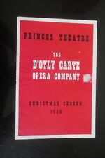 1956 D OYLY  CARTE OPERA COMPANY PRINCES THEATRE THE GONDOLIERS PROGRAMME
