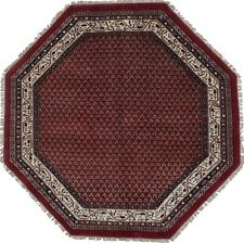 Red Tribal Allover Floral Botemir 6'5X6'5 Oriental Wool Octagon Area Rug Carpet
