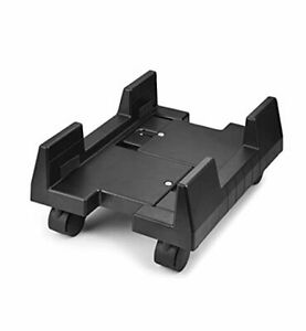CPU Stand Mobile Desktop Tower Computer Floor Stand Rolling Caster Deep Black