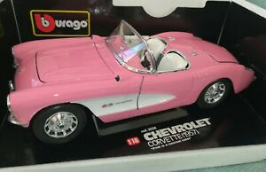 Bburago Diamond Chevrolet Corvette 1957 RARE 1:18, 1/18 Scale, Diecast model.