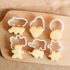 6Pcs Cookie Cake Pastry Fondant Bear Star Elephant Star Mold Mould Cutter Set